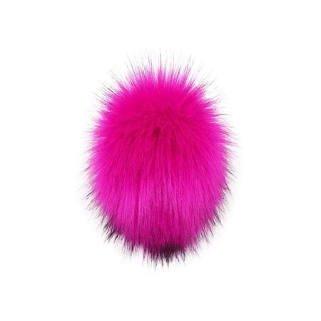 OkrayDirect DIY Knitting Hats Accessires-Faux Fake Fur Pom Pom Ball with Press Button