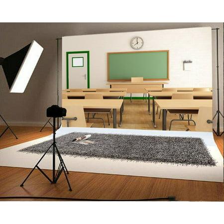greendecor polyster 7x5ft back to school backdrop classroom interior