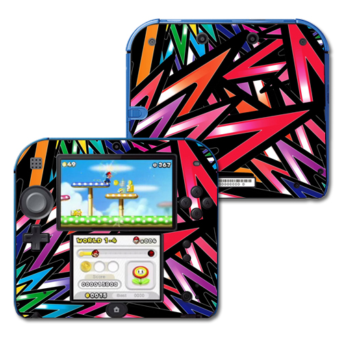 Mightyskins Protective Vinyl Skin Decal Cover for Nintendo 2DS wrap sticker skins Color Bomb