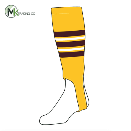 TCK Baseball Stirrups Large (300F, 5in) Gold, Maroon, (Maroon Baseball Stirrup)