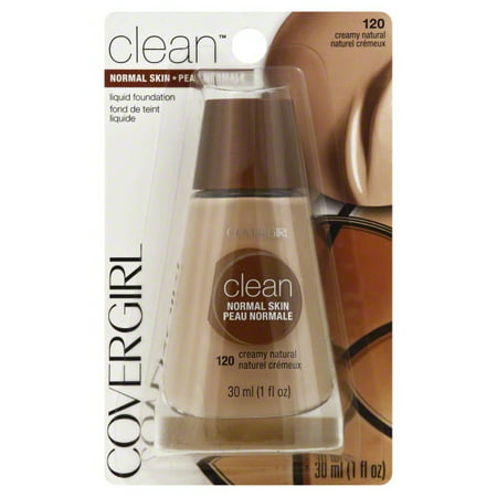 CoverGirl Clean Liquid Foundation, # 120 Creamy Natural, 1 Oz