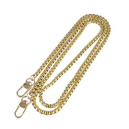 EEEkit Luxury Fashion 47 Inches DIY Metal Shoulder Cross Body Bag Handbag Purse Replacement Chain Strap Set with Buckles (Gold/Black)