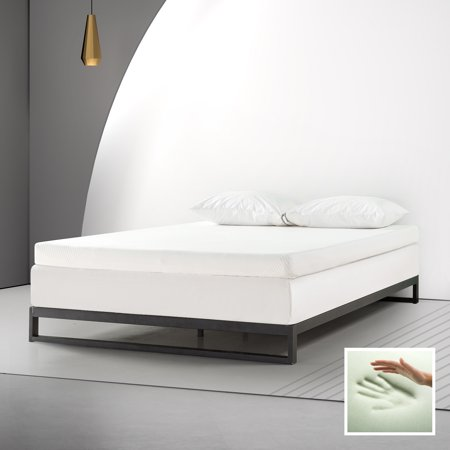 """Spa Sensations By Zinus 4"""" Memory Foam Mattress Topper With Theratouch, King"""