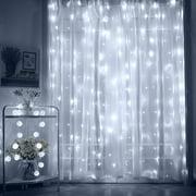 TORCHSTAR 9.8ft x 9.8ft LED Starry Christmas String Lights, Dream Style Curtain Lights for Wedding, Bedroom, Daylight