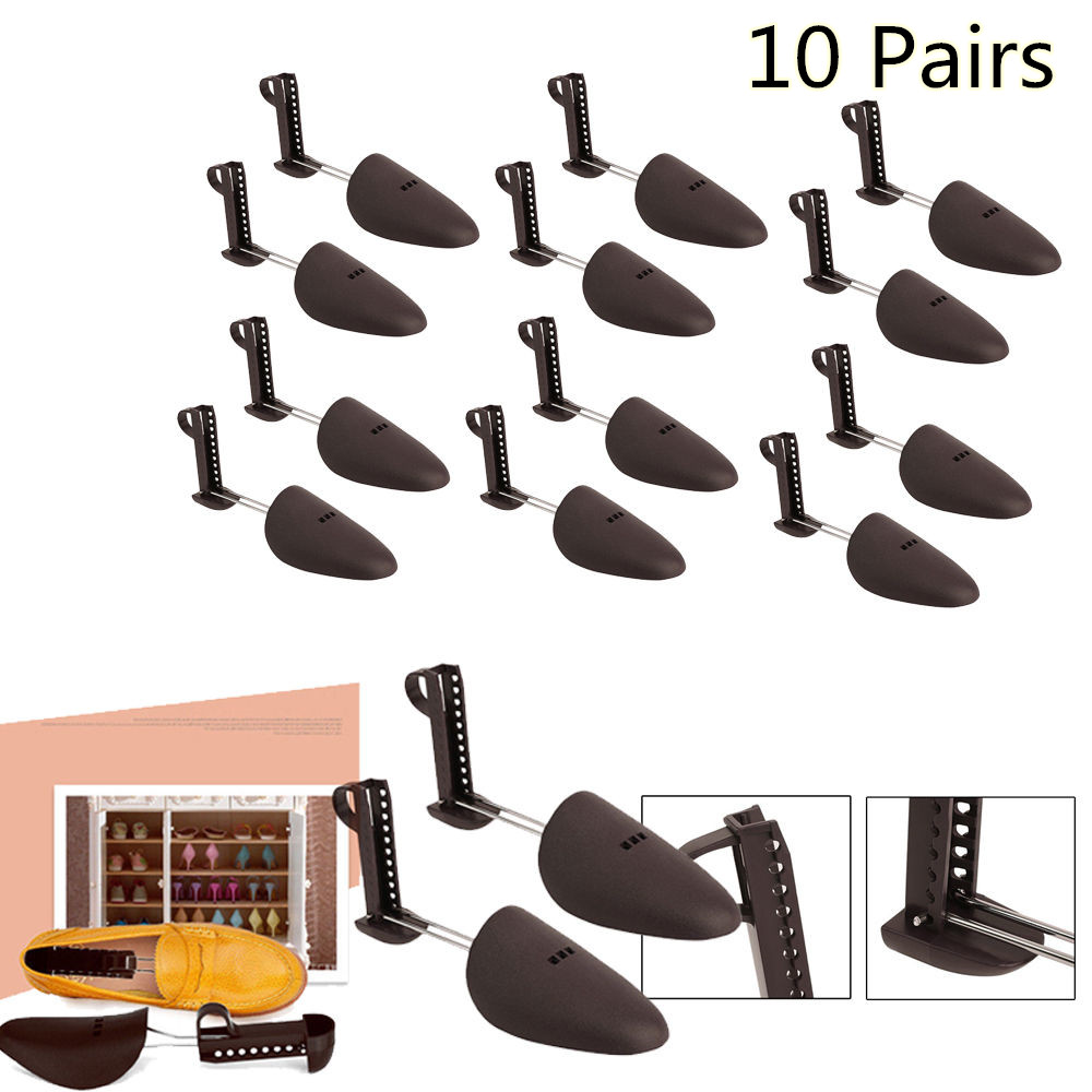 Ktaxon 10 Pairs Adjustable Shoes Tree Keepers Support Stretcher Women Girl Shoe Shapers