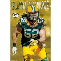 Green Bay Packers 22'' x 34'' Clay Matthews Poster