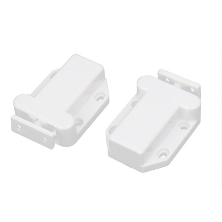 Cabinet Drawer Plastic Non-Magnetic Push Touch Latch 69mm Long 2pcs