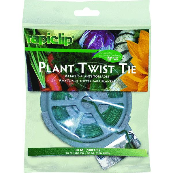 Lusterleaf 1'' Rapiclip Plant Twist Tie (Set of 12)