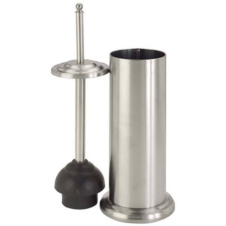 bath bliss toilet plunger with decorated rim stainless steel hardware tools. Black Bedroom Furniture Sets. Home Design Ideas