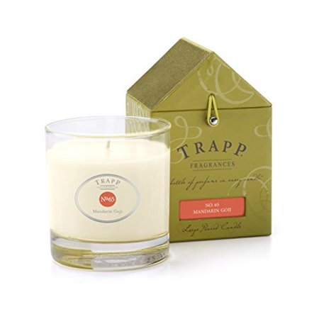 Trapp Candle Flowers - Trapp Signature Home Collection No. 65 Mandarin Goji Poured Scented Candle, 7-Ounce