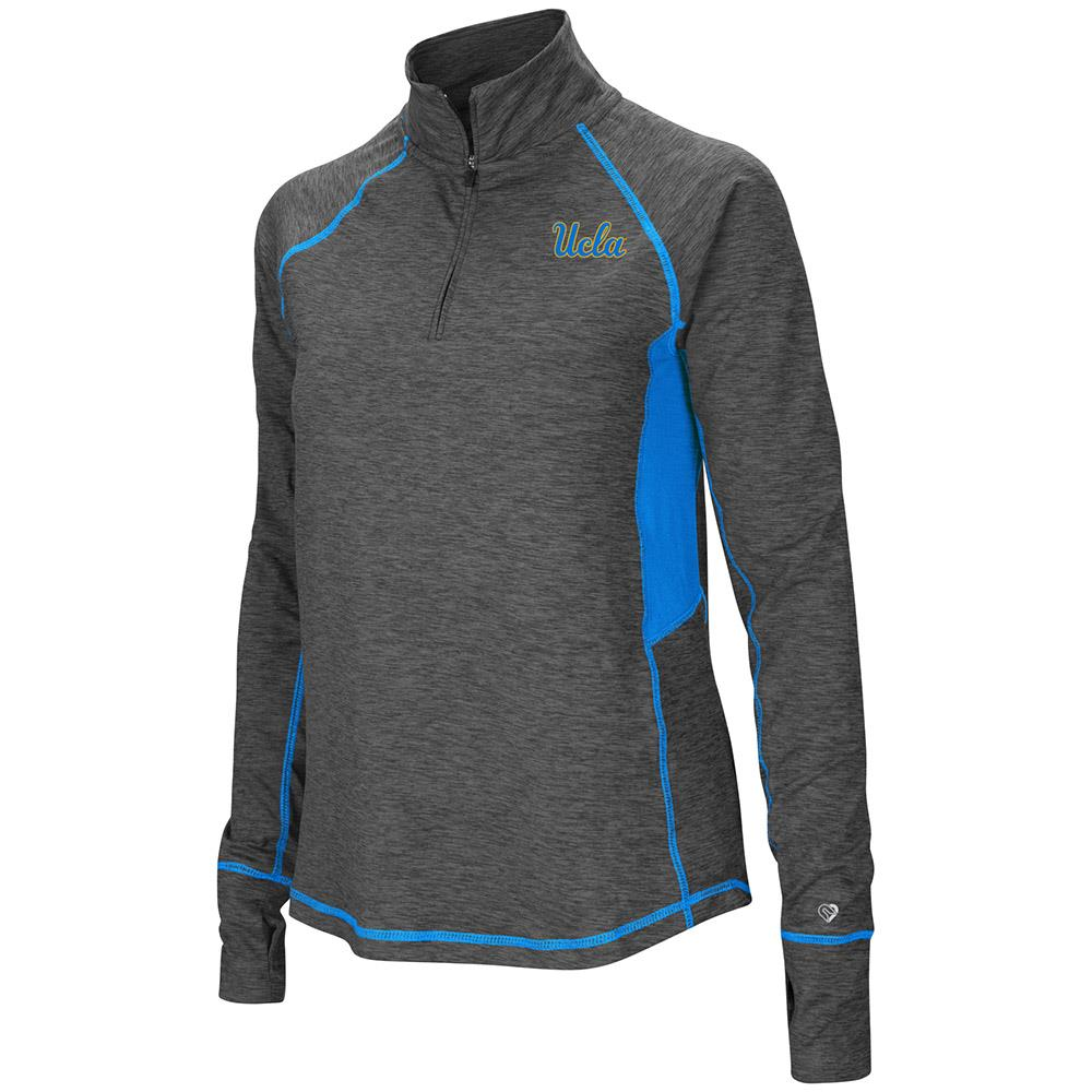 Womens UCLA Bruins Quarter Zip Pull-over Long Sleeve Shirt