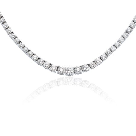 6 ct. Graduated Diamond Tennis Necklace in 14K White Gold (J-K Color, I2-I3 Clarity)