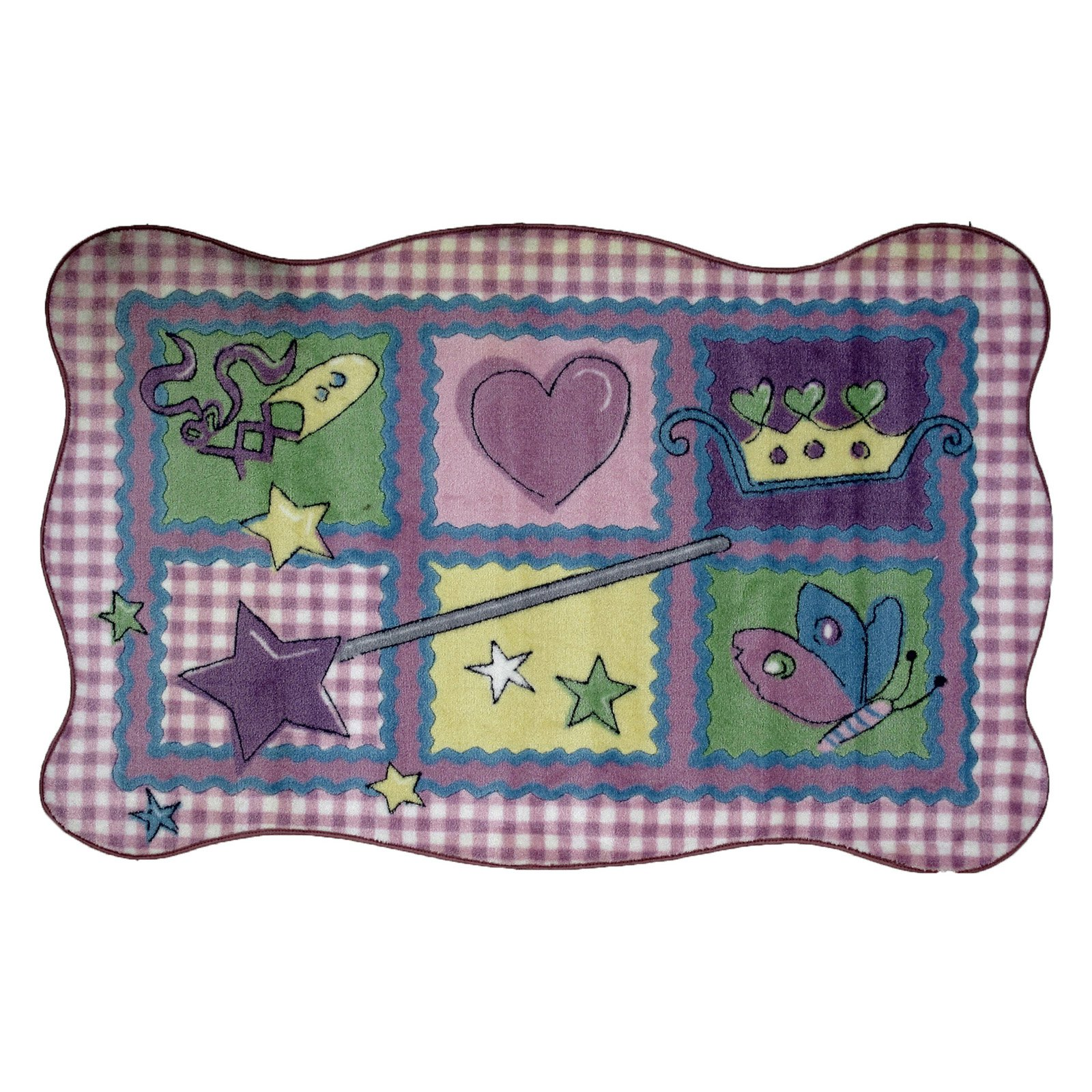Fun Rugs Supreme TSC-220 Fairy Quilt Area Rug Multicolor by LA Rug Inc