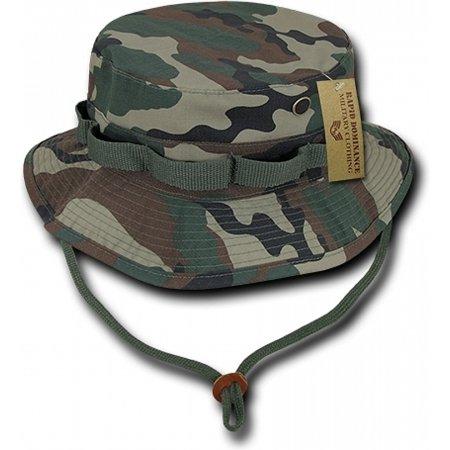 - RapDom Ripstop Mens Boonie Hat [Woodland - XL]