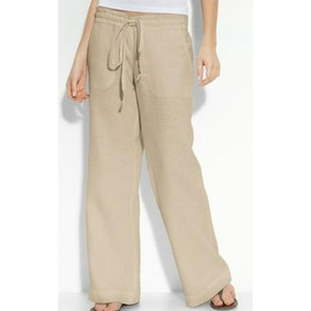 Awesome Comptoir Du Lin Khaki Linen WideLeg Pants  Women  Zulily