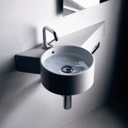 WS Bath Collections Tao Ceramic 12'' Wall Mount Bathroom Sink with Overflow