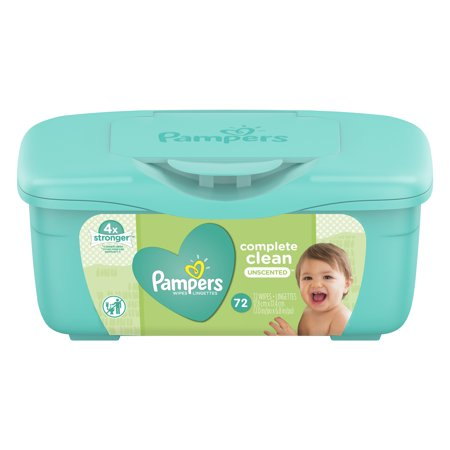 Pampers Complete Clean Unscented Baby Wipes 72 Count
