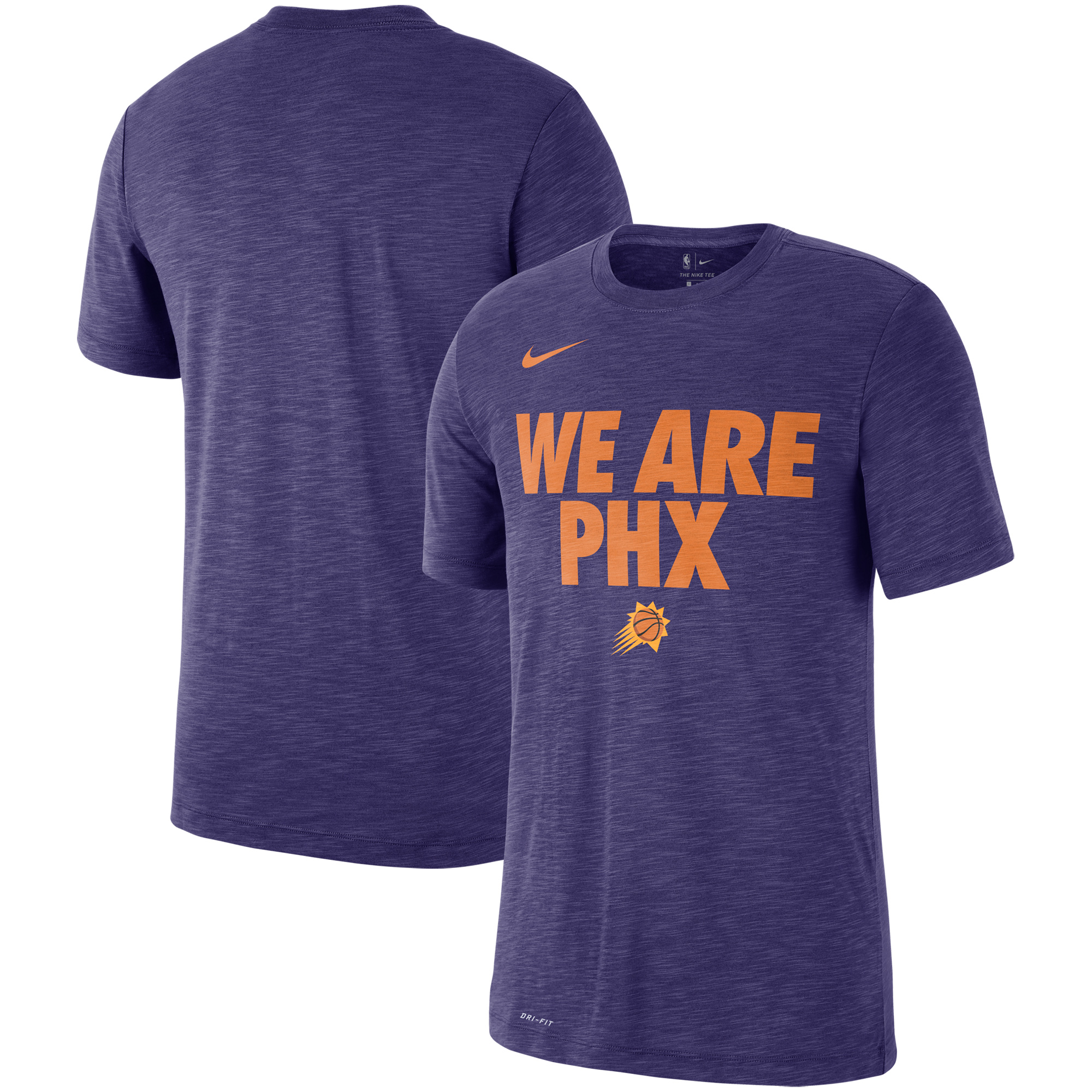 Phoenix Suns Nike Essential Team Attitude Performance T-Shirt - Heathered Purple