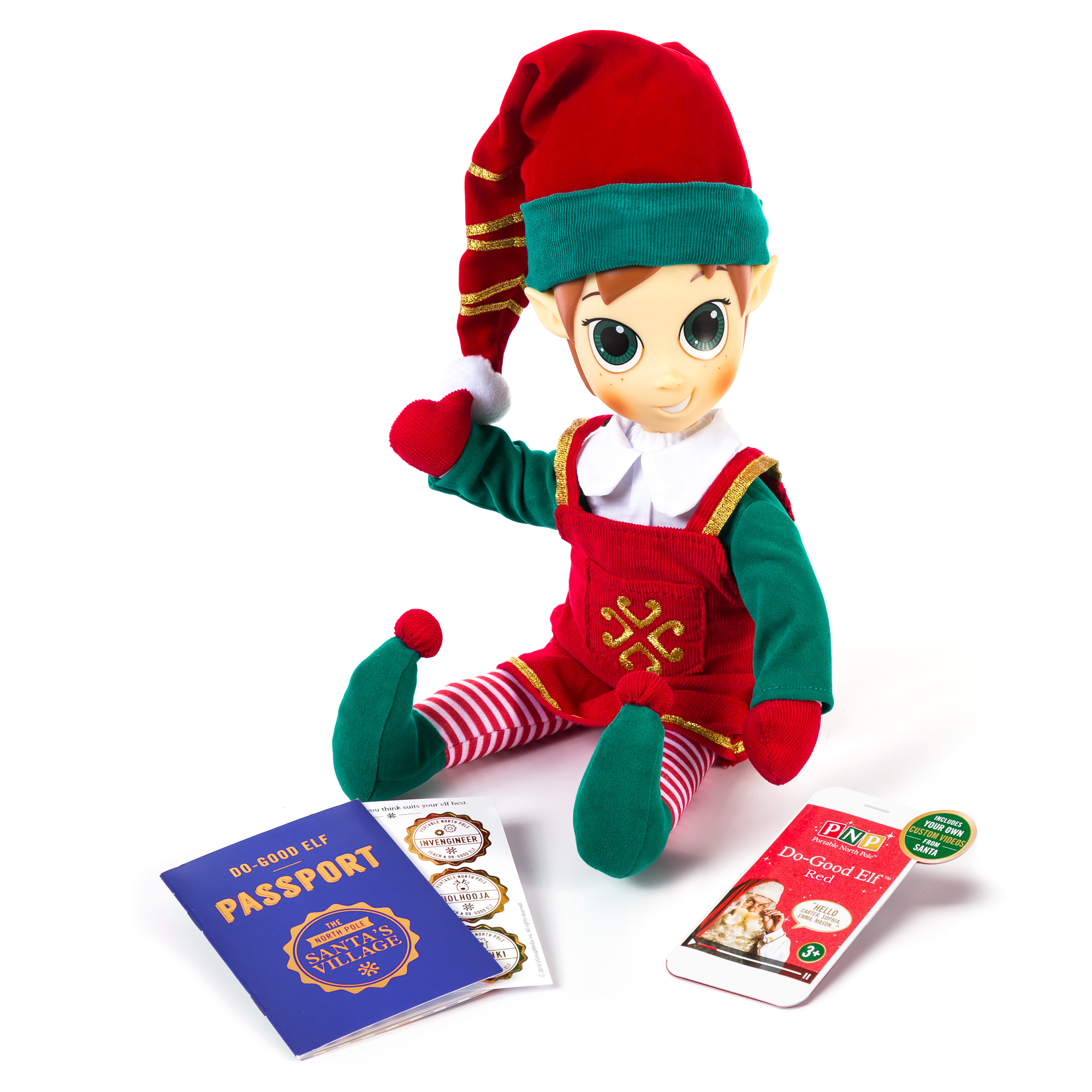 Portable North Pole Red Do-Good Elf™ with Personalized Video ...