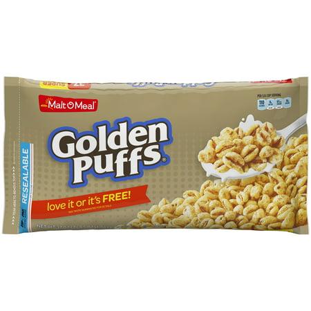 Malt-O-Meal Breakfast Cereal, Golden Puffs, 37 Oz, Zip Bag