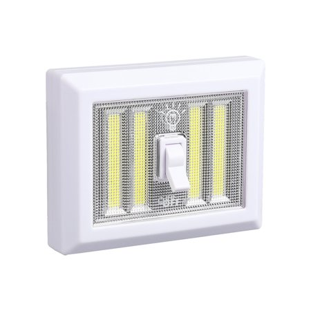 Portable Night light, Battery Operated, 4 COB LED Panels Cordless Wall  Closet Switch Lamp, Wireless Tap Light Mount in