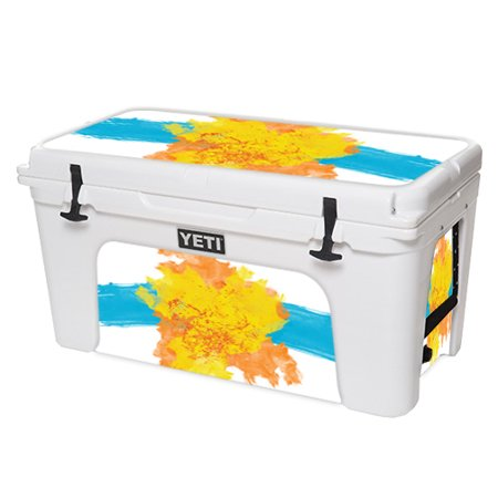 MightySkins Protective Vinyl Skin Decal for YETI Tundra 110 qt Cooler Lid wrap cover sticker skins Abstract Black