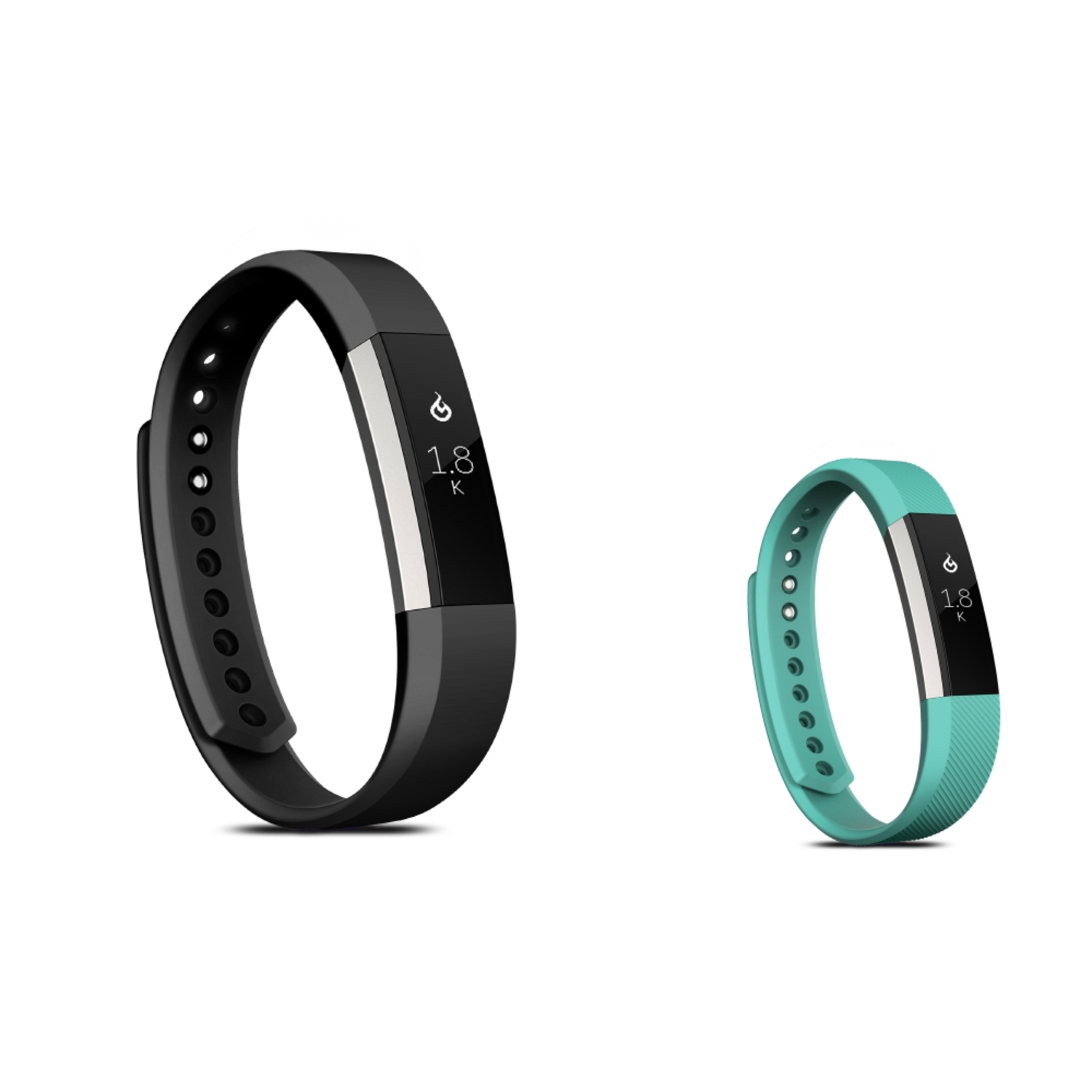 Zodaca Soft TPU Rubber Adjustable Wristbands Watch Band Strap For Fitbit Alta HR / Alta LARGE Size - Black + Mint Green