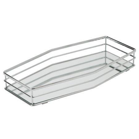 Mirrored Vanity Tray (Home Details Double Rail Vanity Mirror Tray )