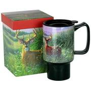 Red Velvet Deer Travel Mug