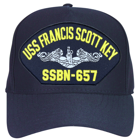 USS Francis Scott Key SSBN-657 ( Silver Dolphins ) Submarine Enlisted Cap ()