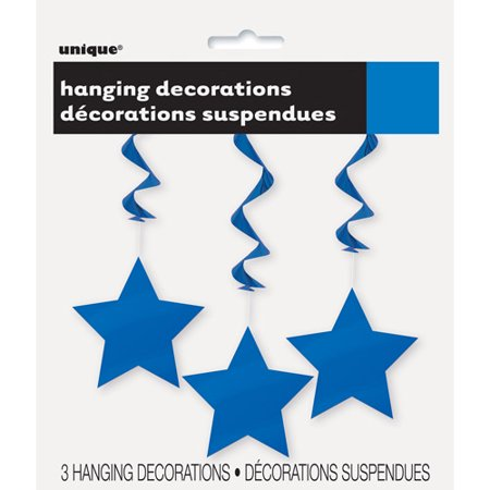 Star Hanging Decorations, 26 in, Royal Blue, 3ct for $<!---->