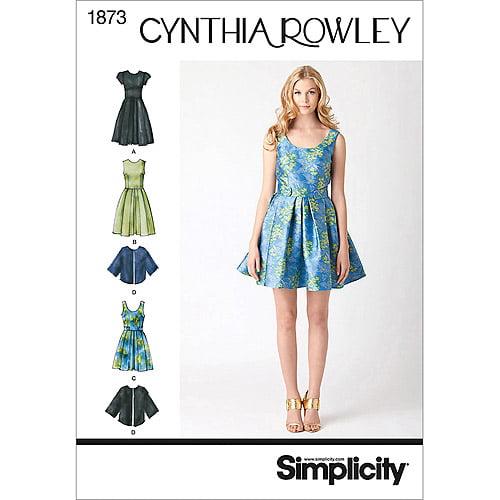 Simplicity Pattern Misses' Dresses, (14, 16, 18, 20, 22)