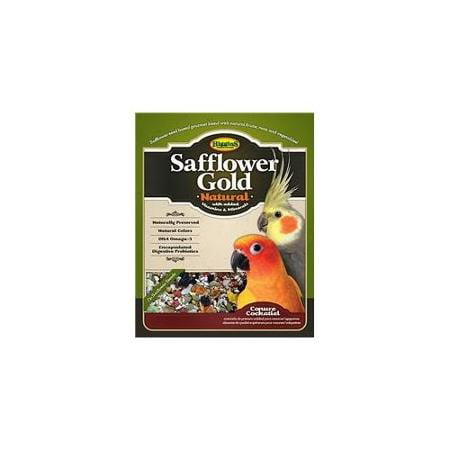 John Gould Bird (Higgins Safflower Gold Conure & Cockatiel Bird Food, 25 Lb)