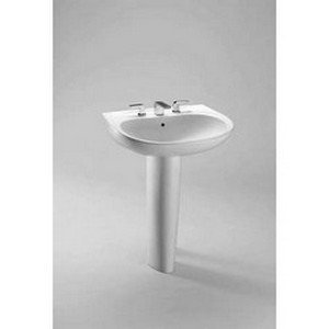 Toto Prominence Wall Mount Vitreous China Bathroom Sink LT242G#01 Cotton