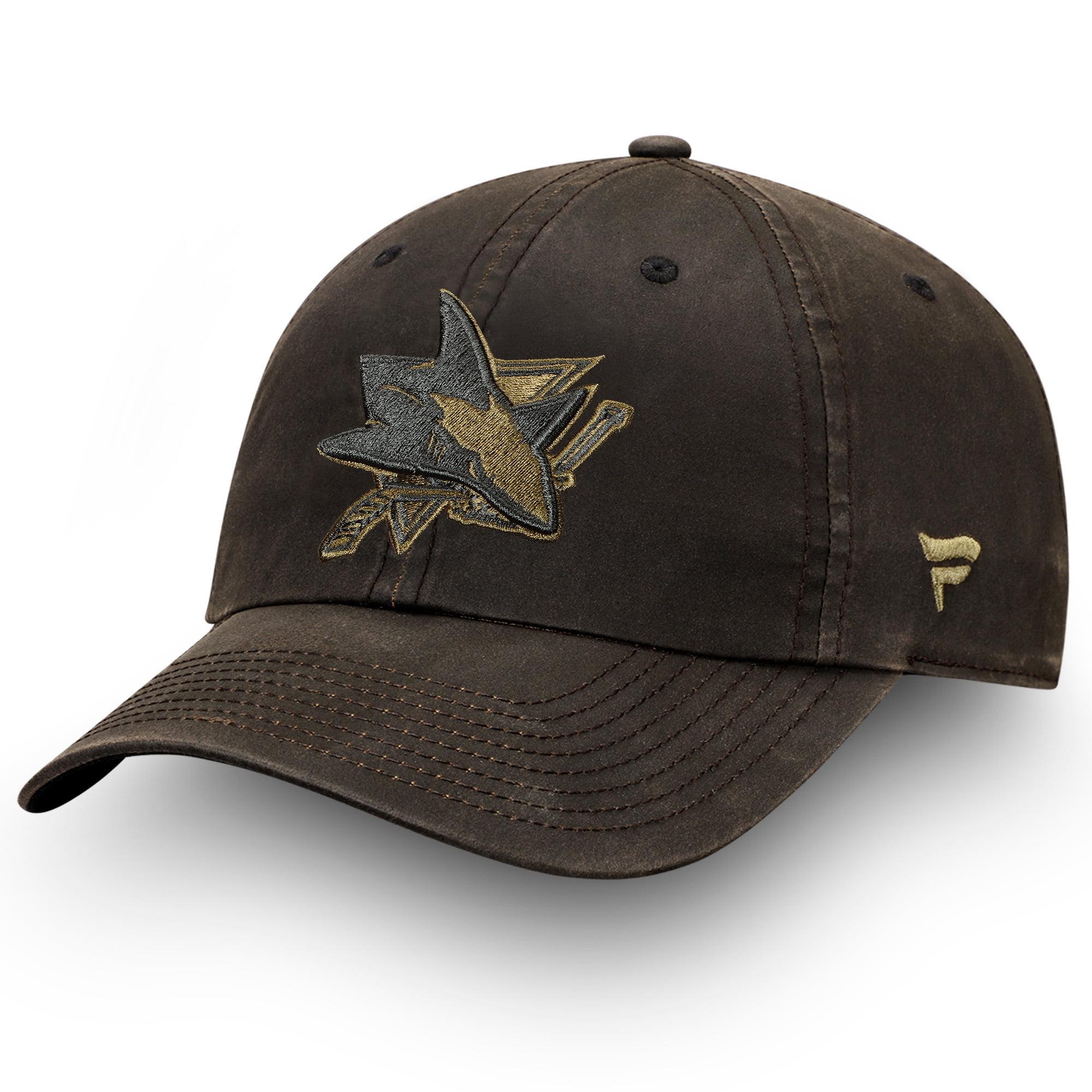 San Jose Sharks Fanatics Branded Lux Fundamental Adjustable Hat - Brown/Olive - OSFA