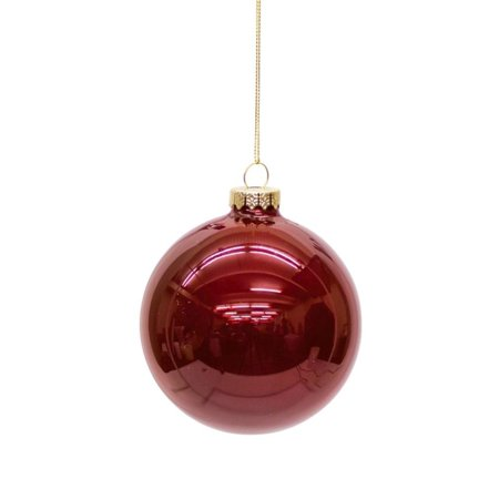 Ruby Bell - Club Pack of 12 Shiny Ruby Red Glass Christmas Ball Ornaments 4