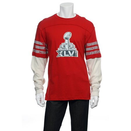 NFL Team Apparel Red NFL Super Bowl 47 Thermal Shirt T-Shirt , Size Large