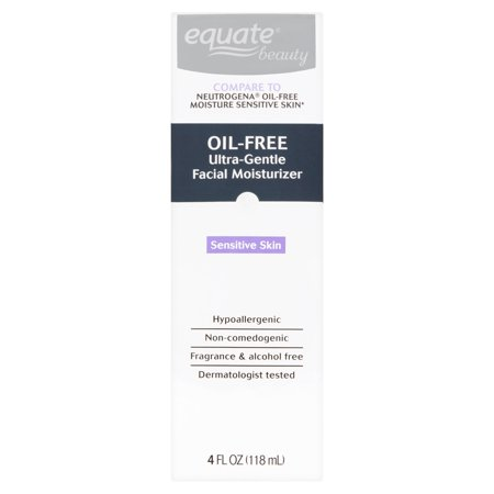 Equate Beauty Oil Free Ultra Gentle Lotion Face Moisturizer  6 Oz
