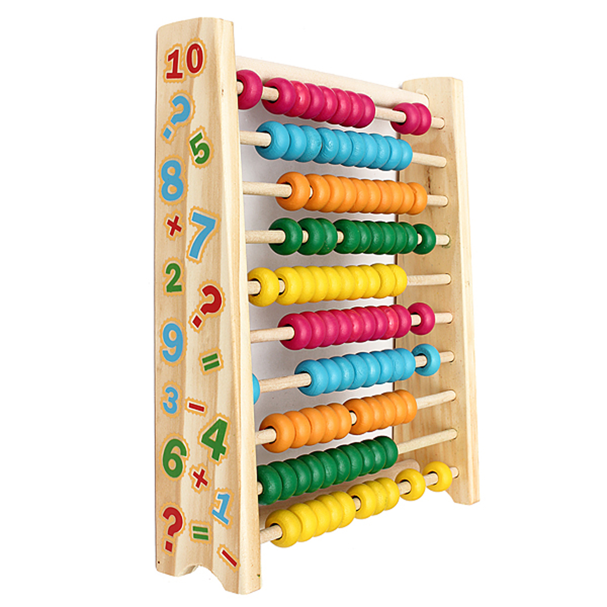 Wooden Abacus-Classic and Colorful Children's Math and Counting Sticks Toy with Free-Standing Frame and 100 Beads-Learning and Educational