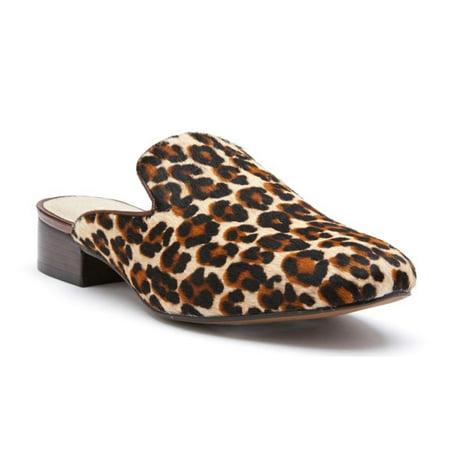 Beige Cowhide - Matisse Women's Lacy Beige Leopard Cowhide Leather Mule