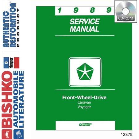 Dodge Van Manual - Bishko OEM Digital Repair Maintenance Shop Manual CD for Dodge Truck Van, Voyager 1989