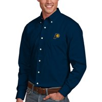 Indiana Pacers Antigua Dynasty Button-Down Long Sleeve Shirt - Navy