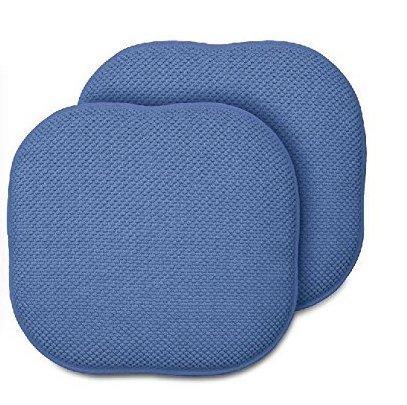 2 Pack: GoodGram Non Slip Ultra Comfort Memory Foam Chair Pads   Blue