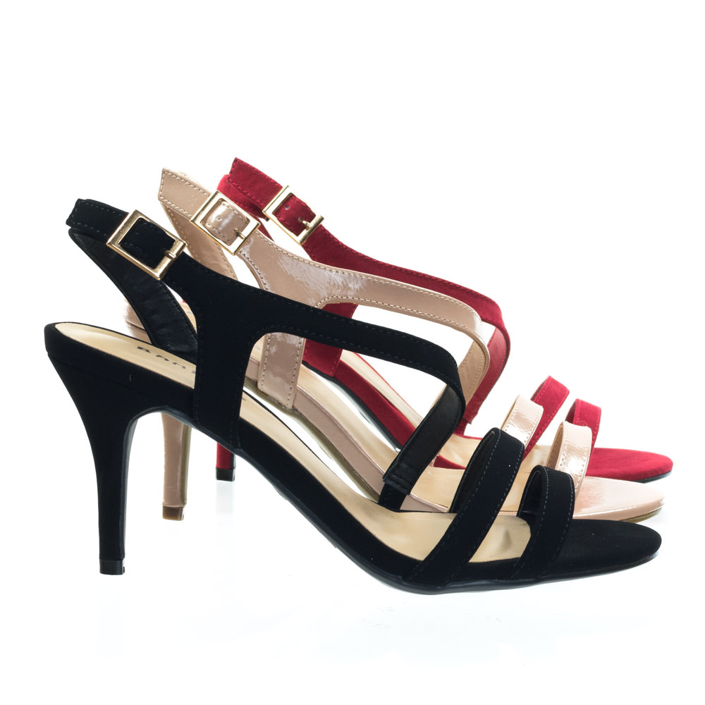 Harleen78 by Bamboo, High Heel Strappy Sling Back Dress Sandal. Women Open Toe Evening Shoe