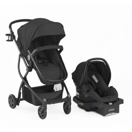 Urbini Omni Plus 3 in 1 Travel System Stroller, Black - Walmart.com