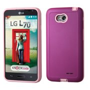 For Optimus Exceed 2 L70 MS323 Purple/Electric Pink Advanced Armor Case Cover