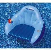 Solstice Vinyl Solo Easychair Convertible Style Pool Float, Blue