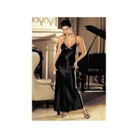Women's Shirley of Hollywood 20300 Charmeuse and Lace Long Gown