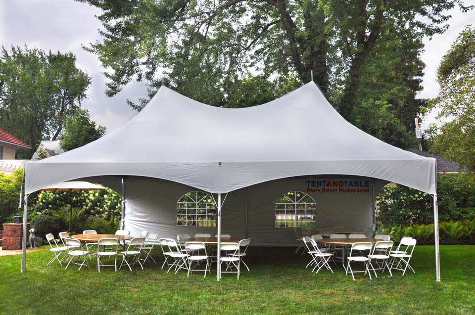 Pogo White High Peak Frame Shelter Tent for Weddings Banquets Parties and Events (Various Sizes) - Walmart.com  sc 1 st  Walmart & Pogo White High Peak Frame Shelter Tent for Weddings Banquets ...