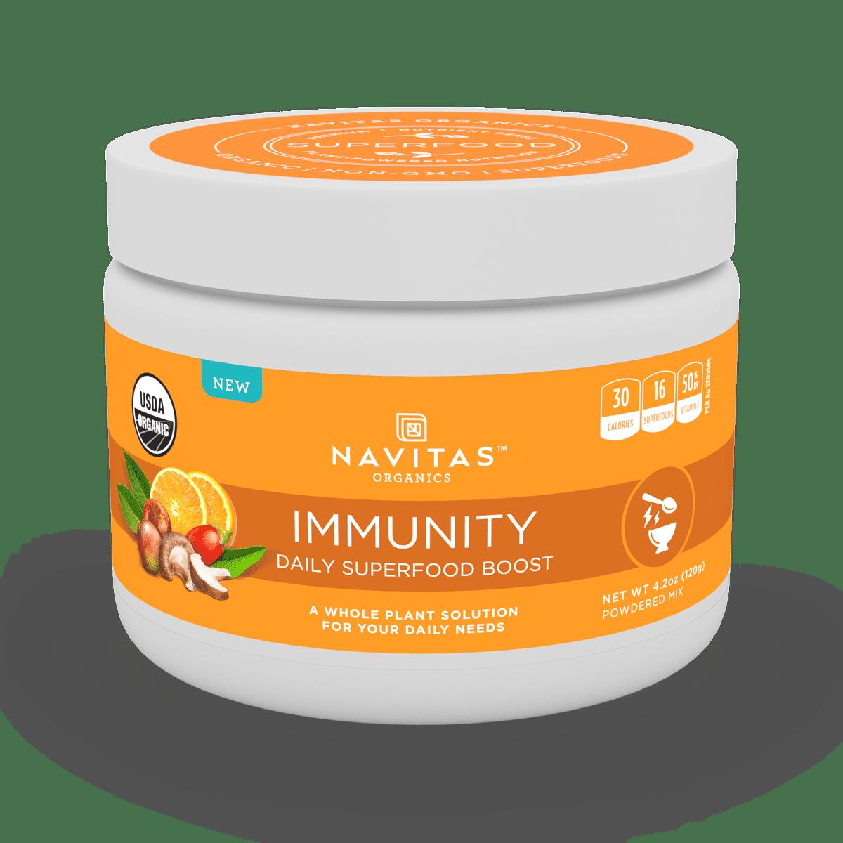 Navitas Organics Daily Immunity Superfood Powder, 4.2 Oz, 15 Servings